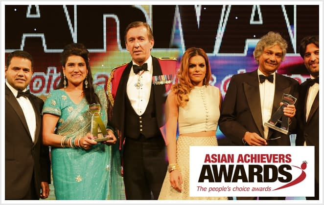 Asian award presentor