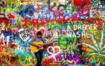 John Lennon's wall in Prague