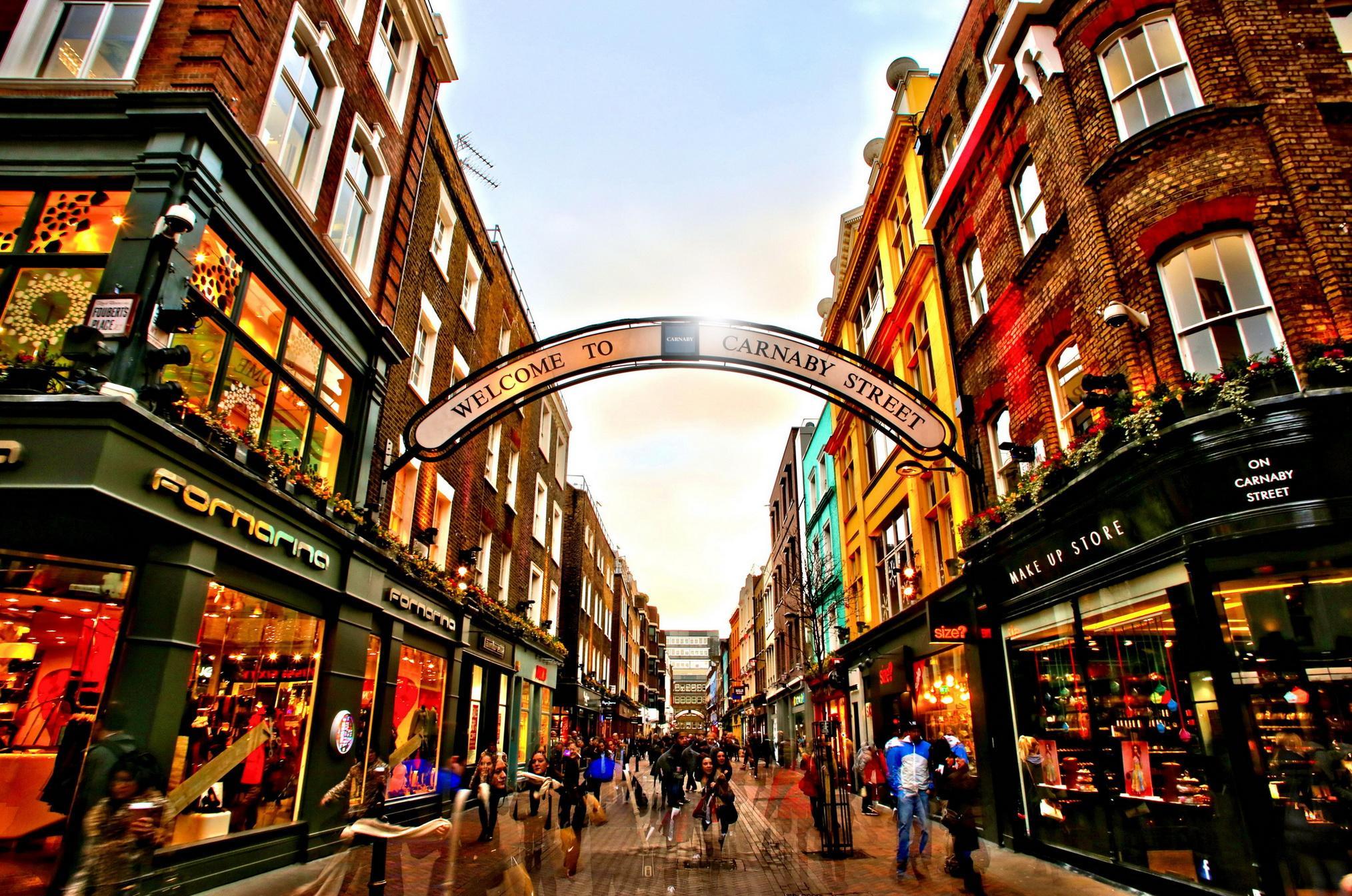 carnaby street area london